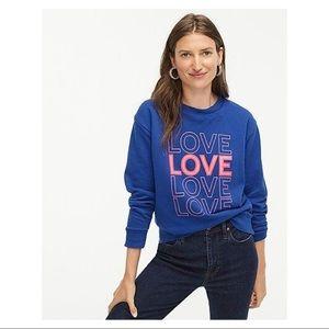 J. Crew Love Sweatshirt Blue
